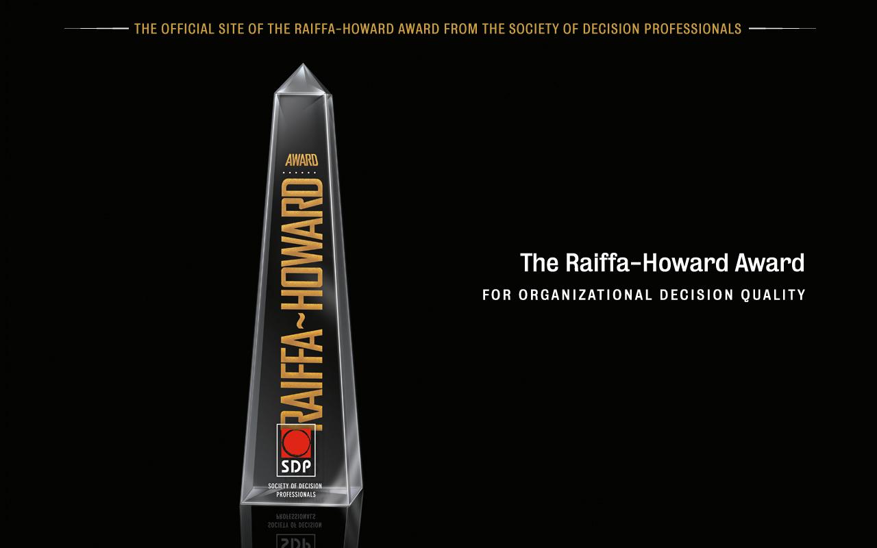 The Raiffa-Howard Award